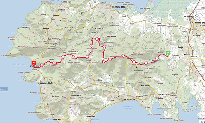 Carte La Route du Sel